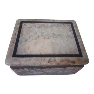 Italian Marble Box For Sale
