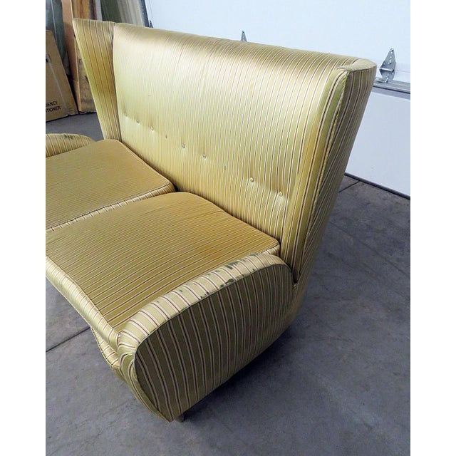 Mid 20th Century Italian Modern Gio Ponti Style Upholstered Sofa For Sale - Image 5 of 7