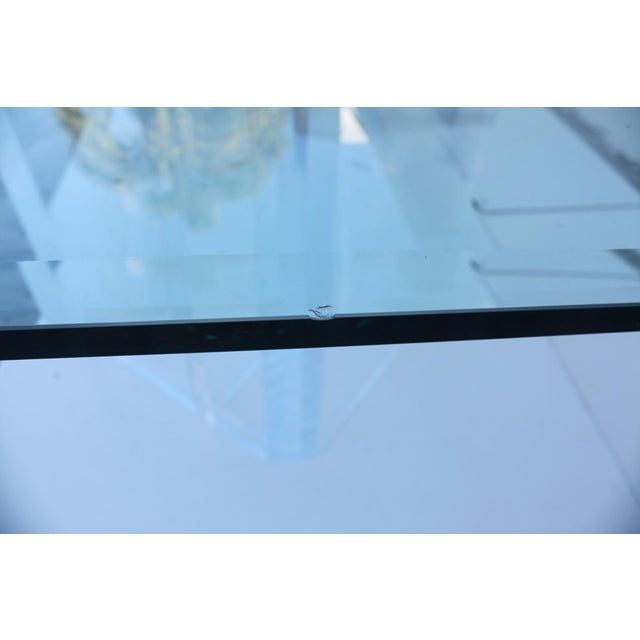 Sculptural Lucite & Glass Dining Table - Image 9 of 11