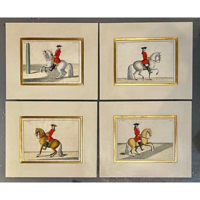 Four Engravings of Horse Riders Le Soldat, Le Grand, Le Diligent, L' Enjoue For Sale - Image 11 of 12