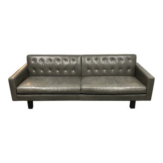 Room & Board Wells Tipped Leather Sofa For Sale