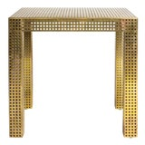 Image of Matégot-Style Perforated Brass Console Table For Sale