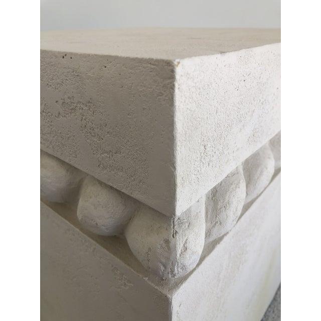 White Vintage Postmodern Decorative Plaster Pedestal For Sale - Image 8 of 10