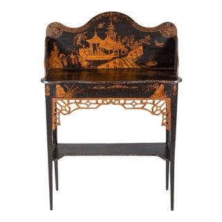 Georgian Japanned Side Serving Table, Circa 1790 For Sale