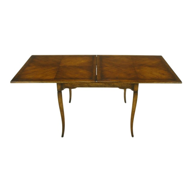 Old Colony Furniture Walnut Flip Top Games Table - Image 1 of 10