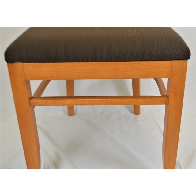 2010s Contemporary Square Back Wooden Dining Chair For Sale - Image 5 of 8