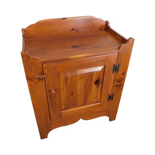 Ethan Allen Country Craftsman Collection Pine One Door Cabinet Dry Sink For Sale