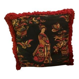 1990s Vintage Female Figure Decorative Pillow For Sale