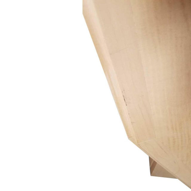 Eight-drawer TV stand with pivoting top. Natural bleached gloss finish. Curly maple veneer. MaterialsMaple, Wood...
