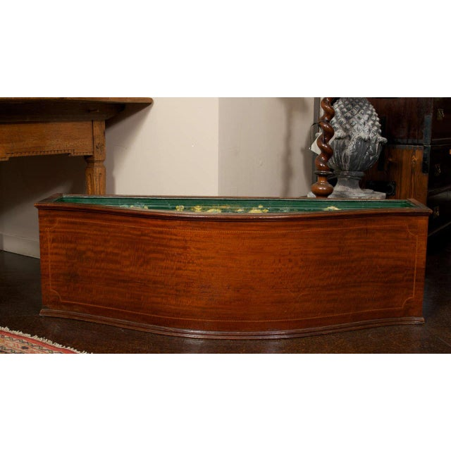 French Mahogany Floor Planter with Inlay Banding For Sale - Image 3 of 7