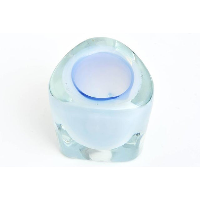 Italian Murano Opalescent Sommerso Glass Vessel/Small Vase For Sale - Image 10 of 10