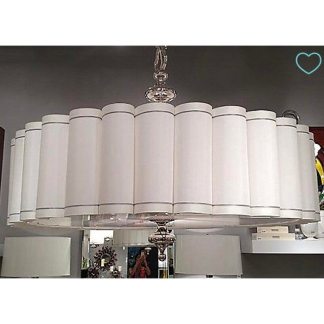 Global Views Enormous Fluted Pendant Chandelier
