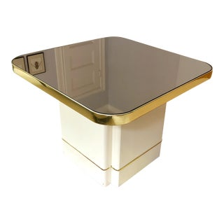 Mod Mirrored Top Table For Sale