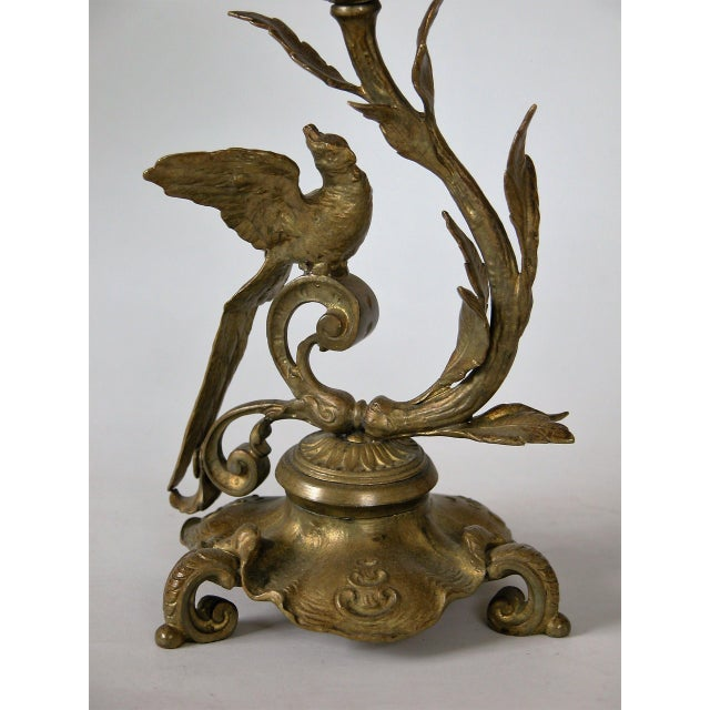 19th C. French Gilded Bronze & Glass Epergne - Image 6 of 8