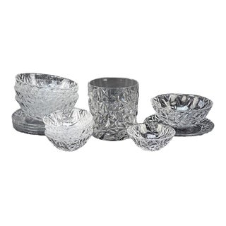 Collection of Tiffany Crystal in the Rock Cut Pattern, Ice Bucket and Much More For Sale