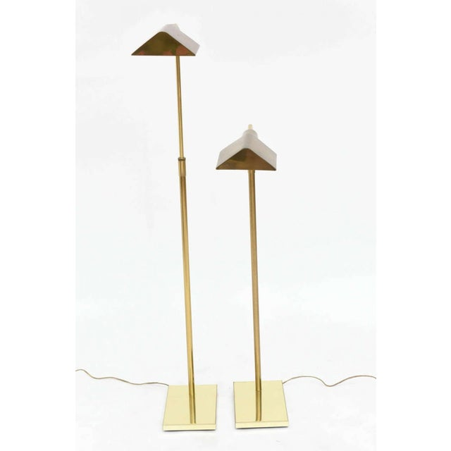 Fine pair of brass adjustable pharmacy floor lamps in the style of pair of brass adjustable pharmacy floor lamps in the style of cedric hartman image 4 aloadofball Image collections