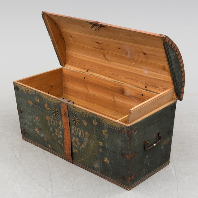 Antique Swedish Wedding Chest For Sale In Greensboro - Image 6 of 8
