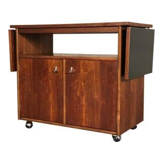 Stanley American Forum Mid-Century Modern Server / Bar Cart - TV Stand