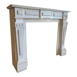 Louis XIV Antique Marble Mantel, circa 1870