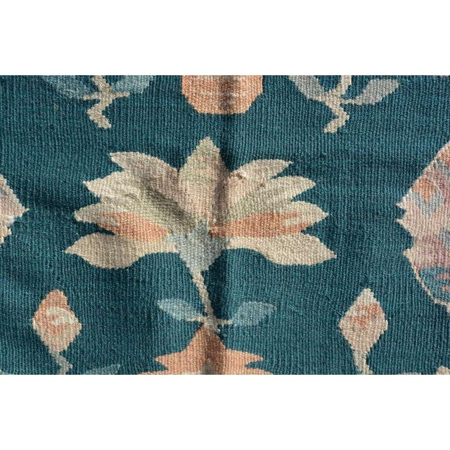 Mid-Century Modern Wall Tapestry Green Rug For Sale In San Diego - Image 6 of 7