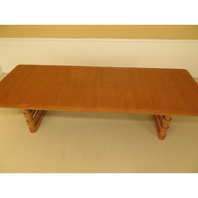 Baker Modern Design Satinwood Mahogany Dining Room Table For Sale - Image 10 of 13