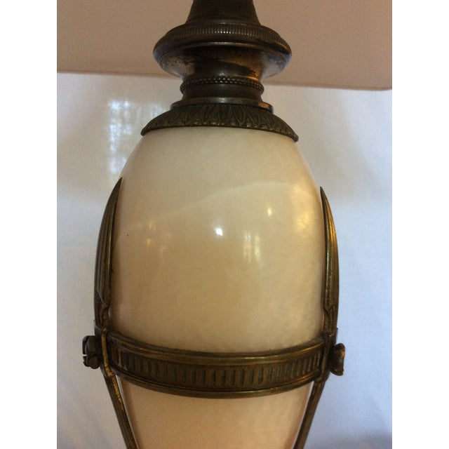 Antique Alabaster and Bronze Lamp For Sale - Image 4 of 8