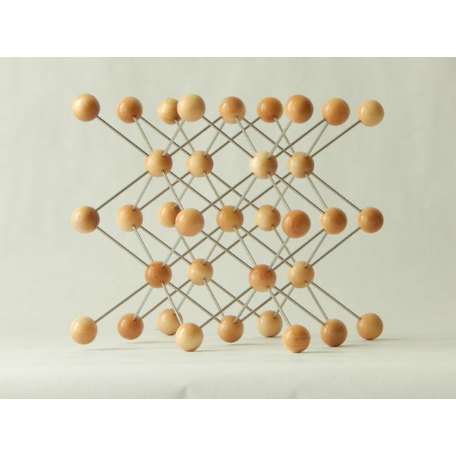 2010s Wood and Stainless Steel Molecular Model Sculpture For Sale - Image 5 of 7