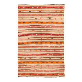 "Apadana - Vintage Striped Turkish Kilim, 5'7"" x 8'8"" For Sale"