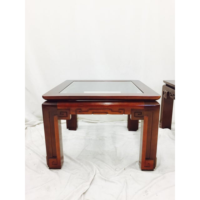 Wood Vintage Asian Ming Style Side Tables - A Pair For Sale - Image 7 of 10