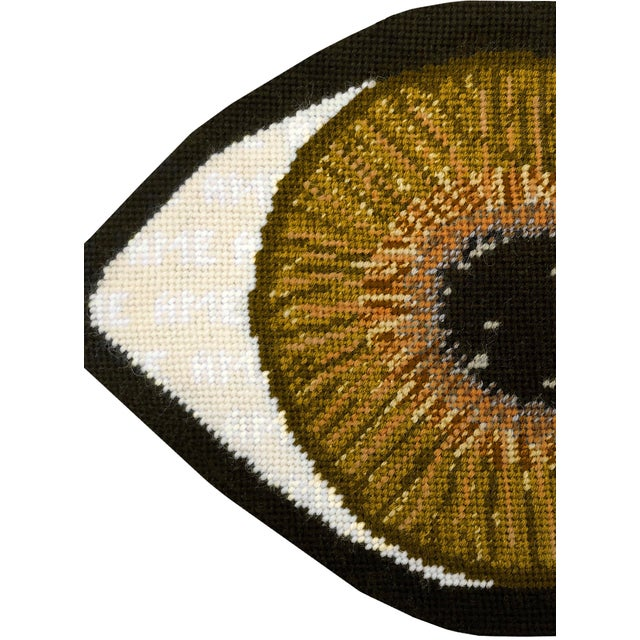 Not Yet Made - Made To Order Custom Made Brown Eye Sculpted Pillow For Sale - Image 5 of 11