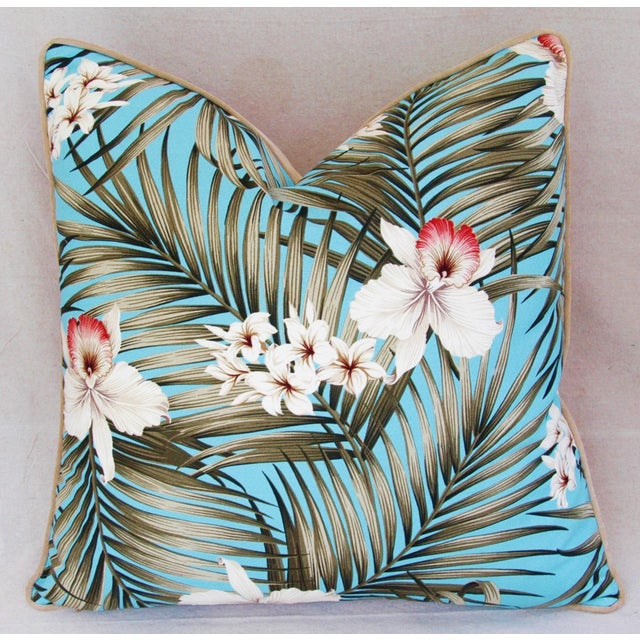 Custom Tropical Palm & Orchid Pillows - A Pair - Image 5 of 11