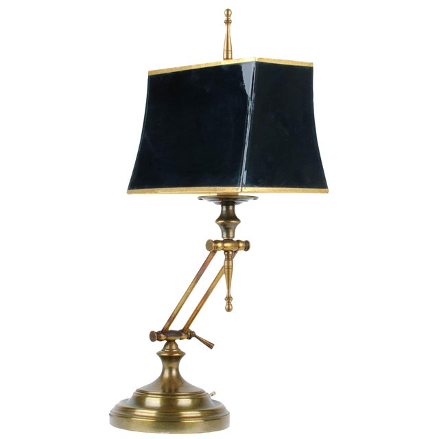 Ethan Allen Articulating Brass Lamp - Image 1 of 11
