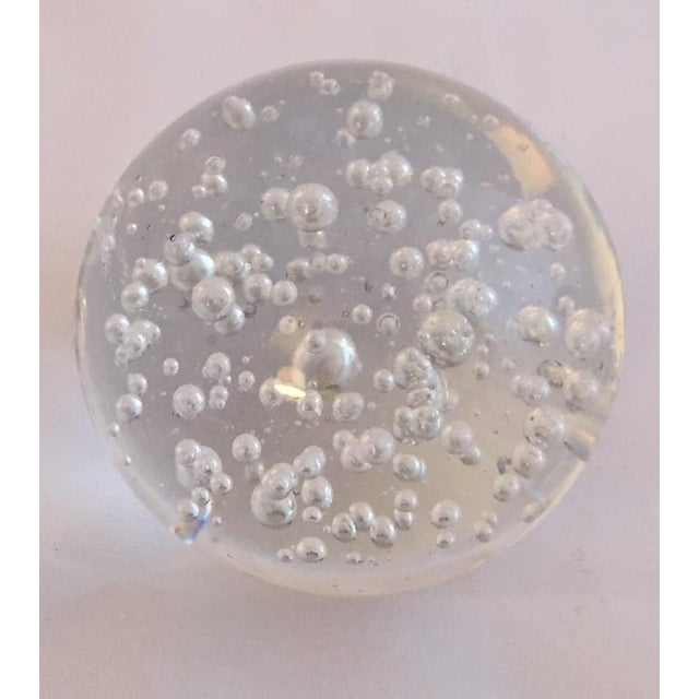 Clear Glass Decorative Bubble Balls - A Pair - Image 4 of 4