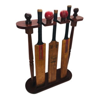 English Cricket Bats & Balls Stand For Sale