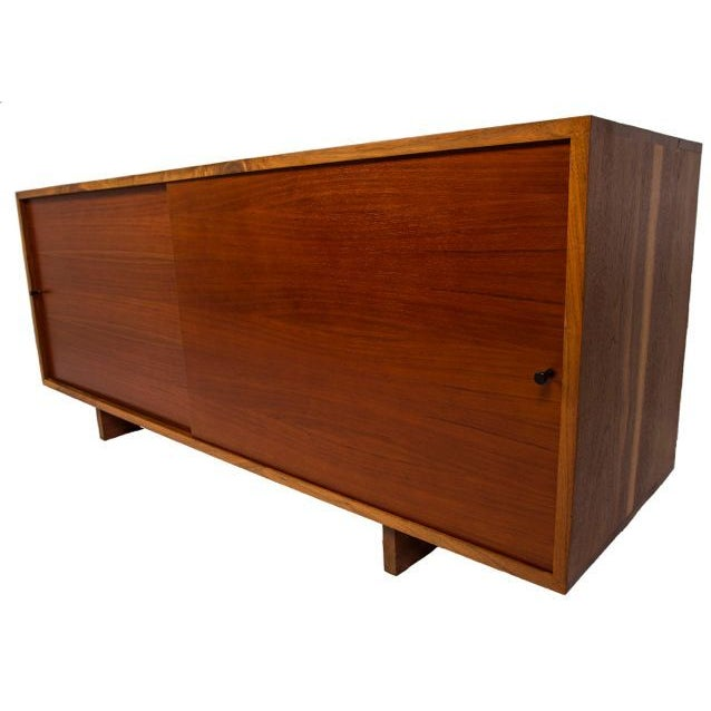 Brown Nakashima Style Solid Walnut Media Cabinet For Sale - Image 8 of 10