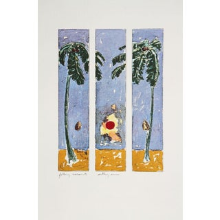 Beckley Lithograph -Falling Coconut, Setting Sun, For Sale
