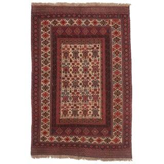 "RugsinDallas Vintage Handwoven Soumak Rug Wool - 5'9"" X 8'9"" For Sale"
