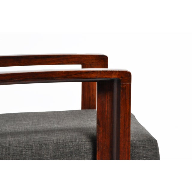 Hungarian Art Deco Solid Walnut Chair For Sale - Image 11 of 12