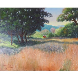 Landscape With Red Cabin Painting For Sale
