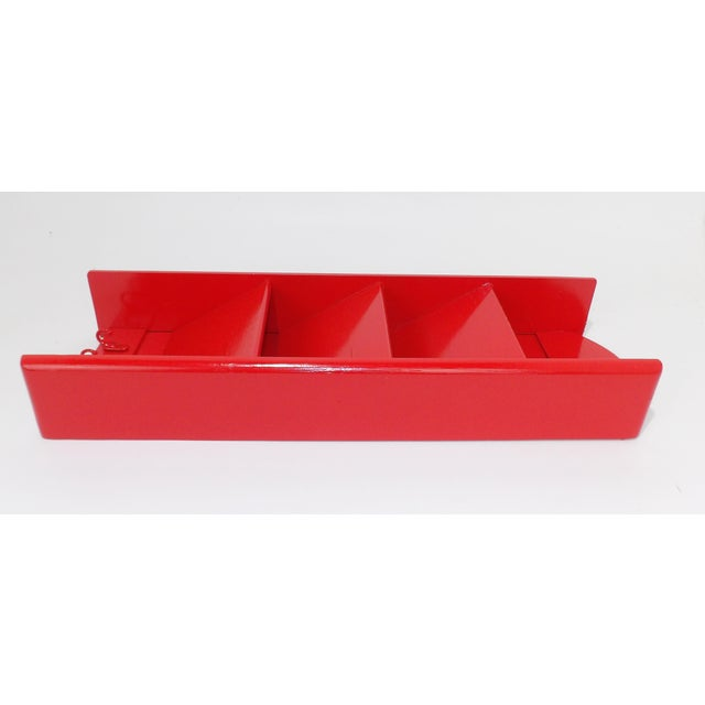 Mid-Century Modern Red Mail Key Slot Organizer For Sale - Image 10 of 11