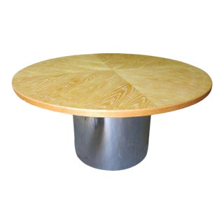 Cerused Round Dining Table For Sale