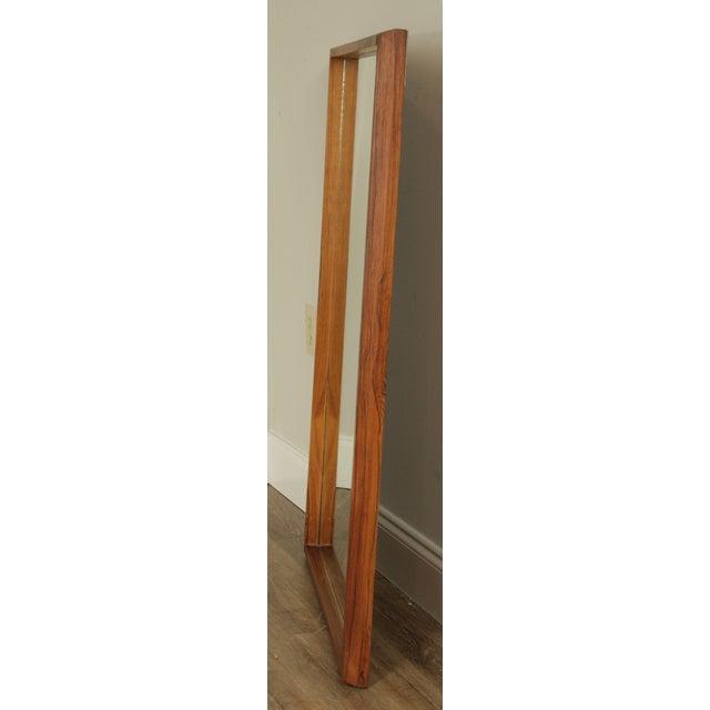 Danish Modern Mid Century Rosewood Rectangular Wall Mirror For Sale - Image 4 of 13