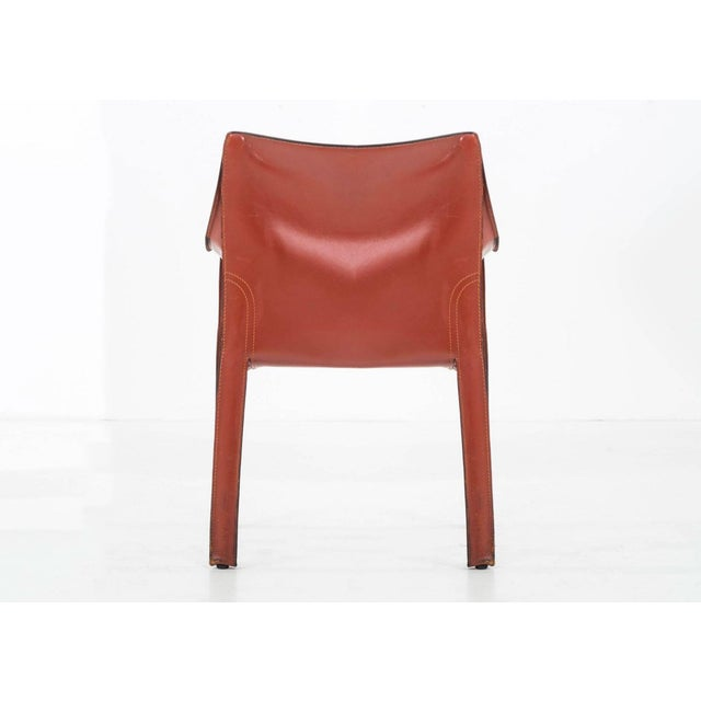 Animal Skin Set of 8 Mario Bellini Dining Chairs For Sale - Image 7 of 11