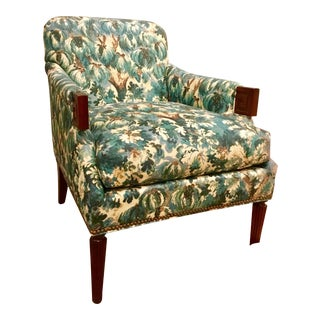 Hickory Chair Transitional Botanical Gregory Lounge Chair For Sale