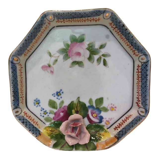 Octagonal China Vide-Poche/Coin Dish For Sale