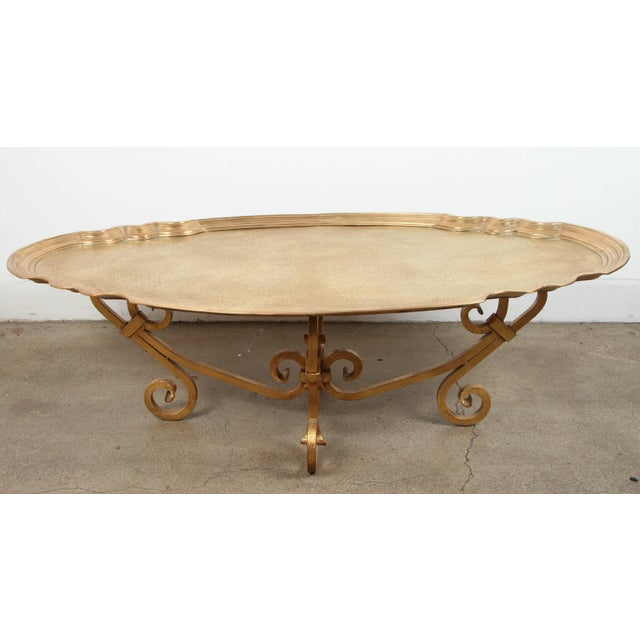 Hollywood Regency 1970s Brass Tray Table by Baker For Sale - Image 10 of 10
