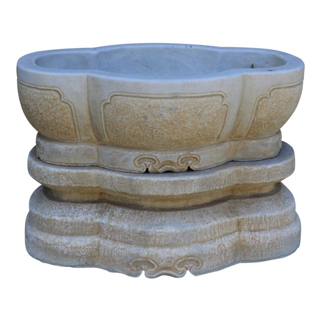 2-Part Stone Water Container For Sale