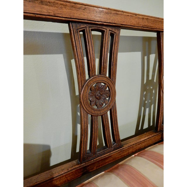 Late 18th Century Louis XVI Walnut 18th Century Settee For Sale - Image 5 of 10