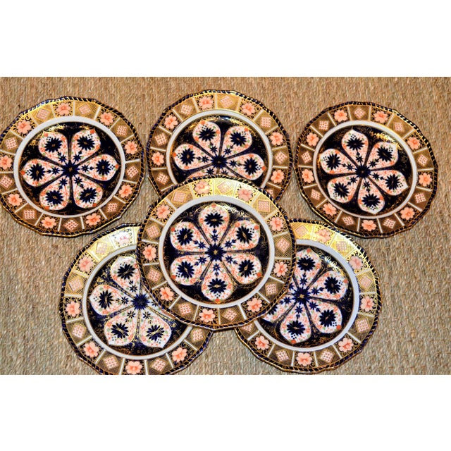 Royal Crown Derby Imari Rope Edge Plates - Set of 6 - Image 7 of 10