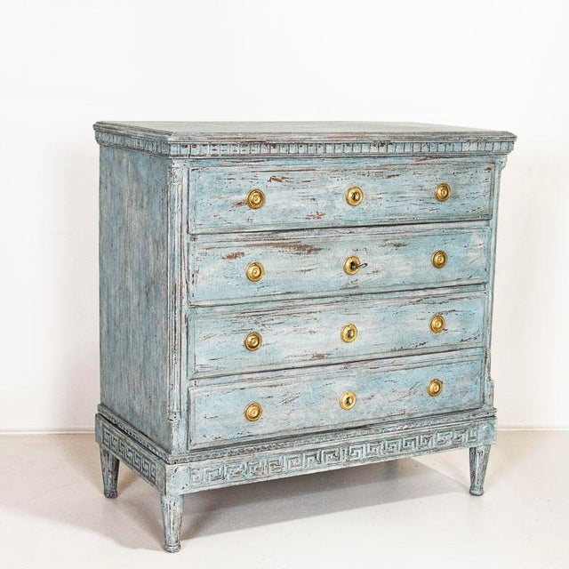 Large Antique Blue Painted Chest of Drawers From Sweden For Sale - Image 13 of 13